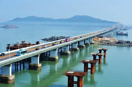 当日,我国第五大岛,福建第一大岛平潭岛跨海大桥——平潭海峡大桥建成