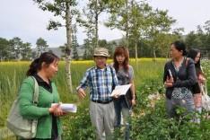 日本农业专家森崎铁兵到田间地头做技术指导