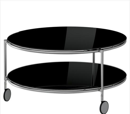 IKEA宜家家居 黑色双层茶几