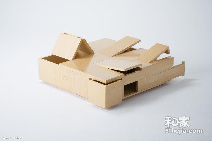 暗格茶几——一款设计创意类家具
