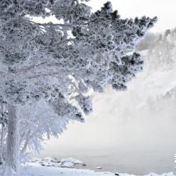 克拉斯诺亚尔斯克边疆区寒冬风景
