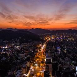 杭州:晚霞绚满天
