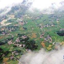 贵州绥阳:俯瞰柔美乡村景致