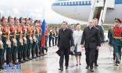李克强抵达圣彼得堡对俄罗斯进行正式访问并举行中俄总理第二十四次定期会晤