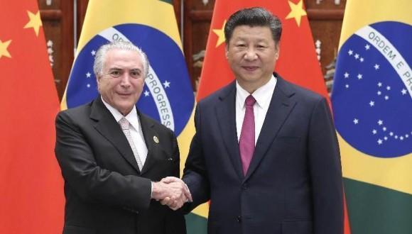 习近平会见巴西总统特梅尔