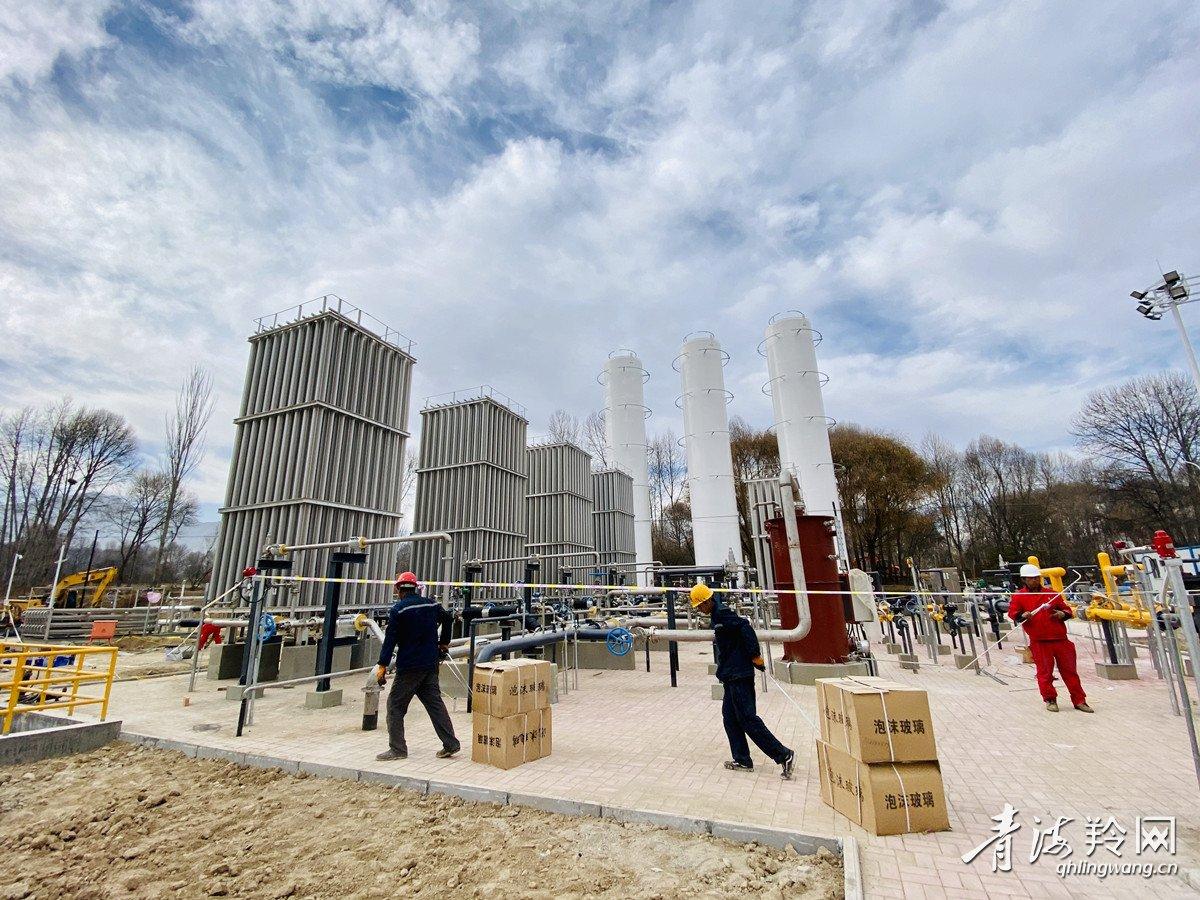 『贵德』贵德县政府液化天然气储备调峰项目正在火热施工中
