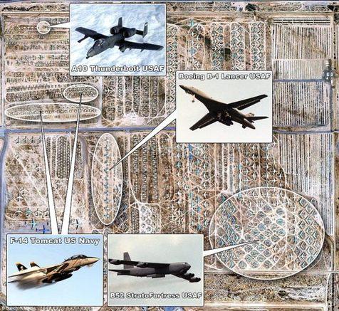 谷歌地球揭秘美国亚利桑那州飞机坟场