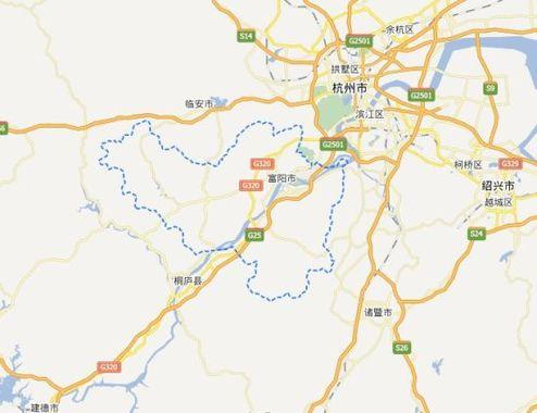 地图:富春江上下游城市
