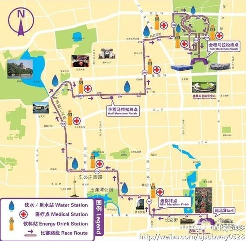 北京马拉松线路图公布图片